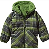 Patagonia Baby Reversible Tribbles Jacket - Headlands Plaid/ Backcountry Green 4T