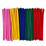 eBoot 100 pezzi Pipe Cleaners Pulitori di tubo Ciniglia Stem per arte e commercio, colori assortiti, 6 x 300 mm