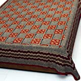 Embroidered�Cotton�Bedspread�Block�Print�249 x�216 cm
