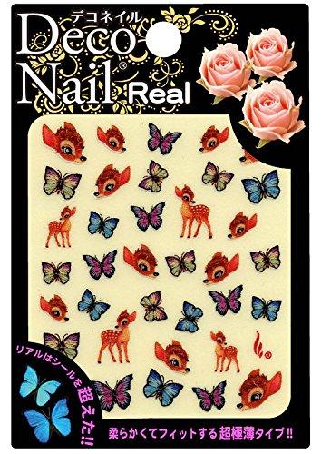 デコネイル リアル子鹿と蝶Rー029