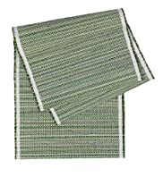 Rattan Striped Runner