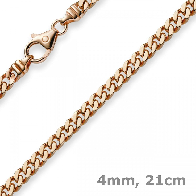 4mm Armband Armkette Panzerkette 585 Echt Gold Rotgold 21cm Armschmuck Damen kaufen