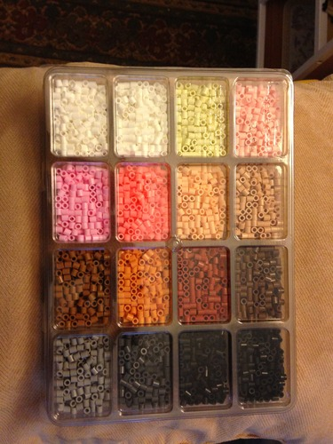 perler fused bead tray 4000 pkg neutral color