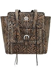 American West Shane Collection Zip Top Tote Handbag - 2983534rw