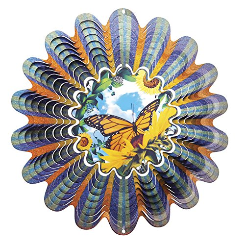 Iron Stop Animated Butterfly Wind Spinner