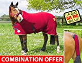 GEE TAC HORSE VELVET FLEECE SHOW/TRAVEL COOLER RUG ALL SIZES IN STOCK