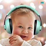 Baby Ear Protection Noise Cancelling Headphones for Babies and Toddlers - Mumba Baby Earmuffs - Ages 3-24+ Months - for Sleeping, Studying, Airplane, Concerts, Movie, Theater, Fireworks (Color: Blue)