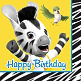 Creative Converting 16 Count Happy Birthday Lunch Napkins, Zou