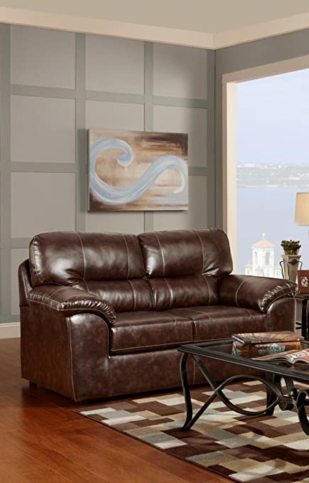 Chelsea Home Furniture Dorchester Loveseat, Cheyenne Café
