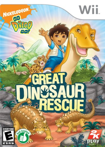 Go, Diego, Go!: Great Dinosaur Rescue - Nintendo Wii back-707719
