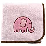 Hudson Baby Elephant Applique Fleece Blanket