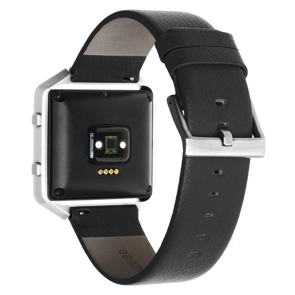 Fitbit Blaze Accessory Band ,Henoda 23mm Genuine Leather Bands Bracelet Strap for Fitbit Blaze Smart Fitness Watch