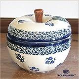 [Zaklady Ceramiczne Boleslawiec/ザクワディ ボレスワヴィエツ陶器]リンゴのポット12.5cm-224 ポーリッシュポタリー