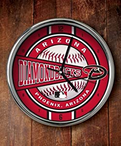 Arizona Diamondbacks Chrome Wall Clock by The Memory Company