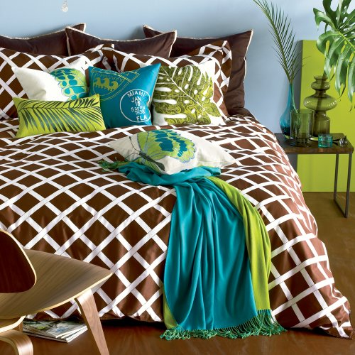 Blissliving Home Kew Duvet Set, Full/Queen, Brown