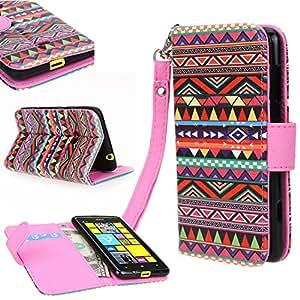 Nokia 625 Cover, E LV Nokia Lumia 625 Deluxe PU Leather Wallet FliP / Purse Case Cover for Nokia Lumia 625 - Tribal