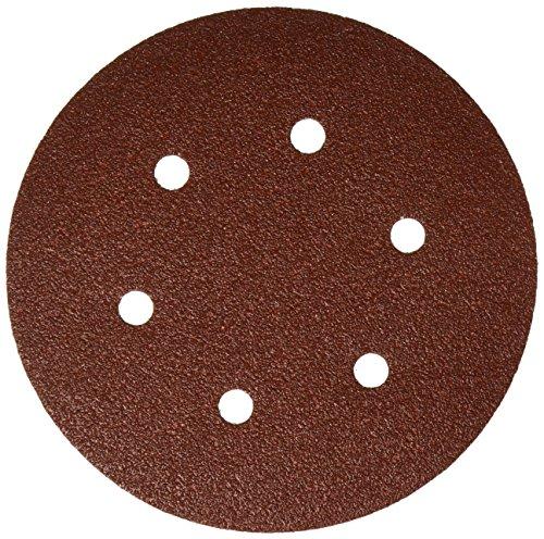 Bosch SR6R062 Random Orbit Sander Hook and Loop 6 Hole Disc 6-Inch 60 Grit Sand Paper, Red, 25-Pack