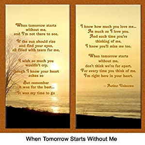 """Pet Lover Remembrance Gift, """"When Tomorrow Starts Without Me"""" , Memorial Pet Loss Picture Frame and Sympathy Gift Package, with optional custom photo editing"""