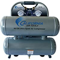 California Air Tools CAT-4610A 1.0 HP 4.6-Gallon Aluminum Twin Tank Air Compressor