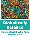 Diabolically Detailed Coloring Book Double Pack (Volumes 1 & 2) (Art-Filled Fun Coloring Books)