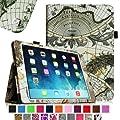 Fintie Apple iPad Air Folio Case Cover Lederschutzh�lle Tasche Etui - Slim Fit Leather Smart Cover mit Auto Schlaf / Wach Funktion f�r iPad Air 5 (5th Generation) - Landkarte Design