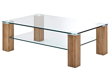 """Couchtisch Tisch Sofatisch Wohnzimmertisch Glastisch Holztisch """"Alma II"""""""
