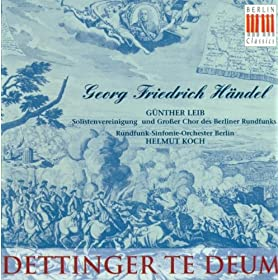 "Te Deum in D major, HWV 283, ""Dettingen"": All the earth doth worship Thee"