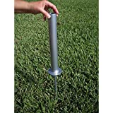 Flagpole To Go FP-GM Flagpole Ground Mount - Silver