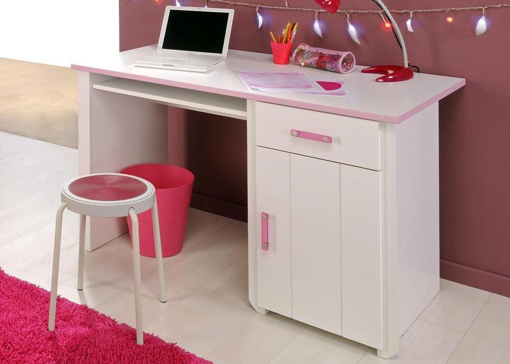 Jumbo-Möbel Schreibtisch BIOTIFUL 8 in Weiß & Rosa günstig online kaufen