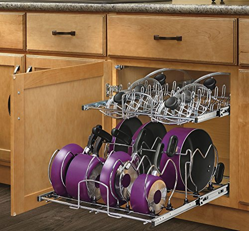 Rev-A-Shelf - 5CW2-2122-CR - 21 in. Pull-Out 2-Tier Base Cabinet Cookware Organizer (Roll Out Cabinet Drawers compare prices)
