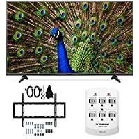LG 49UF6400 - 49-Inch 120Hz 4K Ultra HD Smart LED TV Slim Flat Wall Mount Bundle includes 49UF6400 49-Inch 4K...<br />