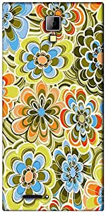 Snoogg yellow flower pattern 2478 Designer Protective Back Case Cover For Micromax Canvas Express A99