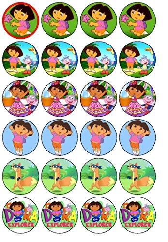 Dora l'Exploratrice 24 x (#2 décorations pour cupcakes