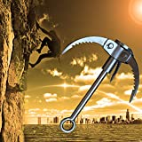 Grappling hook, Handmade Outdoor Climbing Folding Carabiner with 3-Claws
