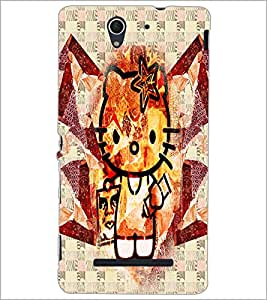 PrintDhaba Kitty D-6076 Back Case Cover for SONY XPERIA C3 (Multi-Coloured)
