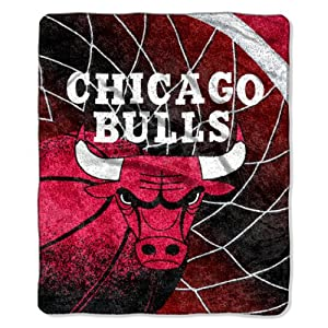 NBA Chicago Bulls Reflect Sherpa Throw Blanket, 50x60-Inch by Northwest