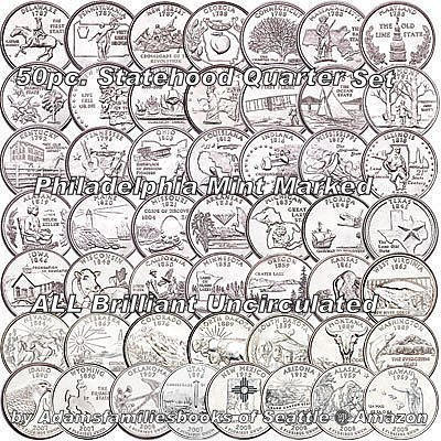 1999-2008 P Complete UNC State Quarter 50 Coins