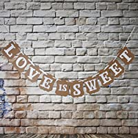 1 X Wedding Western Party Decoration Bunting Garland Banner LOVE IS SWEET by Generic