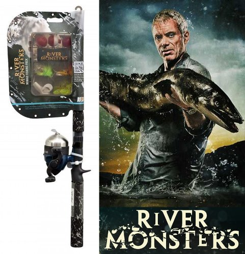 River Monsters Spincast Combo with Monster Tackle Kit