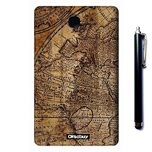 Galaxy Tab 3 7.0 SM-T210 Case, OkSoBuy(R) Stand Case Premium Oracle bone script Leather Case Smart Cover with Card Slots For Samsung Galaxy Tab 3 7.0 SM-T210 SM-T217(Retro Map)