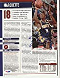 Dwyane Wade Autographed Magazine Page Photo Marquette Golden Eagles - PSA/DNA Certified - Autographed College Magazines