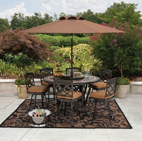Patio Dining Set Outdoor Furniture.This Patio Furniture Sets Chair Cushions Will Allow You To Lounge In Comfort!