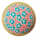 GAMESPFF Round Pin Cushion with Wooden Base and Printed Floral Fabric Coated for Daily Needlework (Pink 2) (Color: Pink 2)