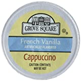 Grove Square Cappuccino, French Vanilla, 50 Single Serve Cups (Packaging May Vary) (Color: Basic, Tamaño: 50 Count)
