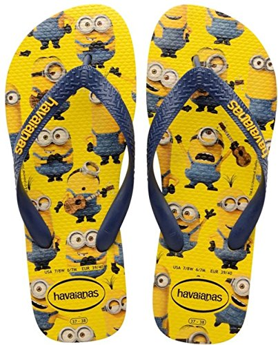 Havaianas Minions - Chanclas unisex, color yellow/navy blue 5372, talla 39/40 EU (37/38 BR) 16.25€