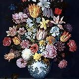 Printhook Dael Jan Frans Van: Still Life Of Roses In A Glass Vase- A3 Size Poster Art