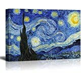 """Wall26® - Starry Night by Vincent Van Gogh - Oil Painting Reproduction on Canvas Prints Wall Art, Ready to Hang - 24"""" x 36"""""""