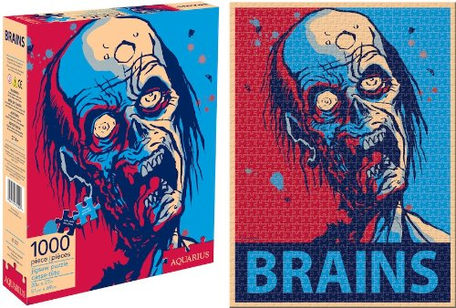 Zombie Brains Jigsaw Puzzle, 1000-Piece