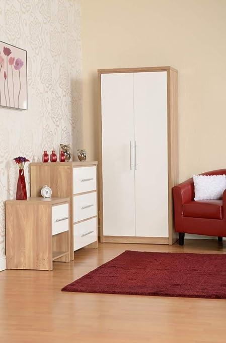 SEVILLE BEDROOM SET OAK/WHITE