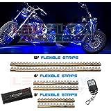 6pc Blue LED Flexible Motorcycle Lights